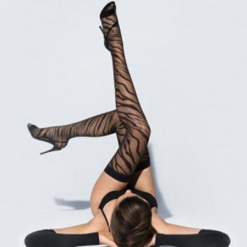 Buy Wolford luxury lingerie - Wolford Tiger Stay-up  | Journelle Fine Lingerie