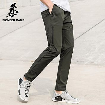 New quick drying pants men clothing waterproof stretch trousers male quality dark blue army green