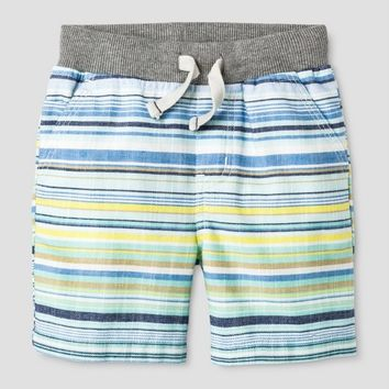 Baby Boys' Stripe Pull-on Shorts Blue/Yellow - Cat & Jack™