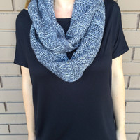 Metallic Knit Infinity Scarf- GREY - Metallic Knit Infinity Scarf- GREY