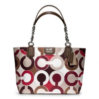 Coach :: Madison Graphic Op Art Metallic Tote