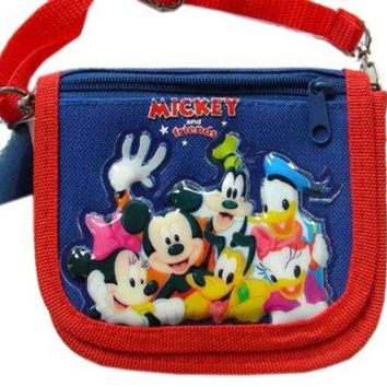 Disney Mickey Mouse amp Friends Wallet w Strap Coin purse