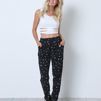 As Its Best Trouser Pant - Black Print