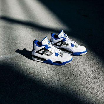 DCK7YE Air Jordan 4 Retro BG 'Motorsport' Basketball Shoes <>