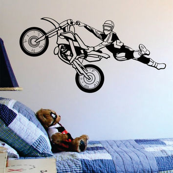 Motocross Trick Dirtbiker Version 1 Design Sports Decal Sticker Wall Vinyl