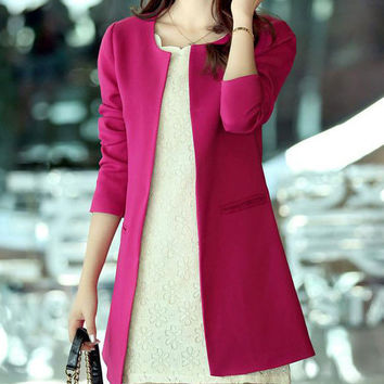 Long Sleeve Casual Tunic Blazer