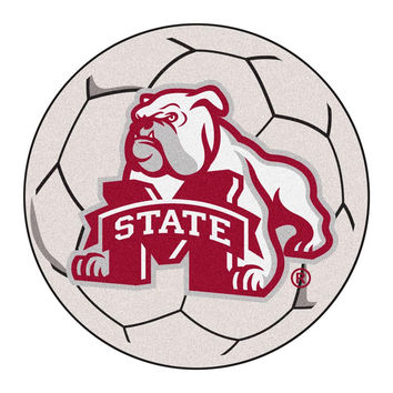 Mississippi State Bulldogs NCAA Soccer Ball Round Floor Mat (29)