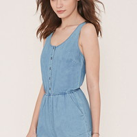 Cuffed Denim Romper