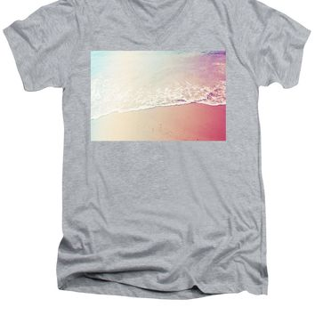 Ocean Air, Salty Hair, Watercolor Art By Adam Asar - Asar Studios - Men's V-Neck T-Shirt