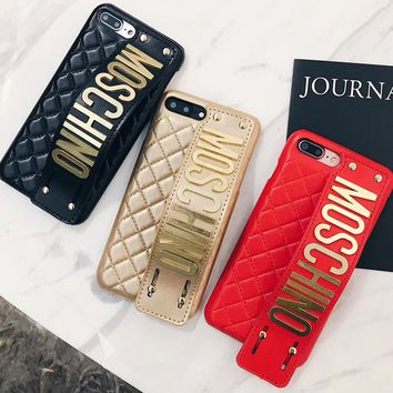 IPhone7 mobile phone shell iphone6splus net red wrist strap luxurious atmosphere personality female fashion brand 8p.