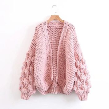 ZDFURS* Autumn Winter Knitted Cardigans Coat Women  Fashion Long Sleeve Batwing Poncho Sweater Beautiful Womans Crochet Cardigan