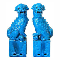 Turquoise Foo Dogs | Waiting On Martha