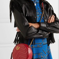 GUCCI GG Marmont Circle quilted leather shoulder bag