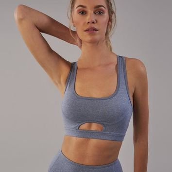 Gymshark Sleek Sculpture Sports Bra - Steel Blue Marl