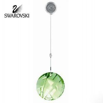 Swarovski Crystal SCS 2008 Bamboo Ornament Green Window Suncatcher #905542