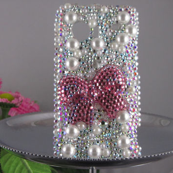 iphone4 Swarovski crystal cell  phone case pink by SparkleOfEden