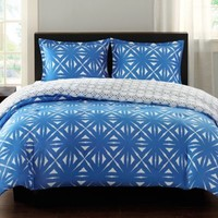 Echo Design™ Lattice Geo Reversible Comforter Set in Blue