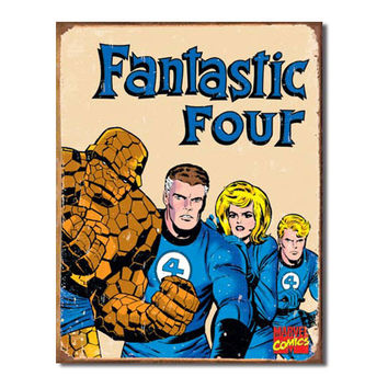Fantastic Four Retro Vintage Tin Sign