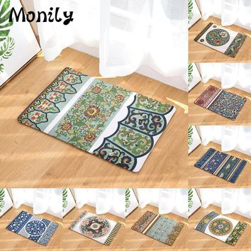 Autumn Fall welcome door mat doormat Monily Entrance Waterproof  Geometry Boho Flowers Kitchen Carpets Bedroom Rugs Decorative Stair Mats Home Decor Crafts AT_76_7