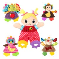 Cute Cartoon Girl Animal Baby Rattles Infant Toys