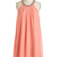 ModCloth Mid-length Sleeveless Shift A Glimmer of Haute Dress