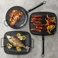 High-Heat Nonstick Steel Grill Cookware Set