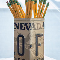 Nevada License Plate Pencil Holder - Pencil Cup - Unique Pencil Cup - Desk Accessories - Office Decor - Pen Cup - Pen Holder - State Decor