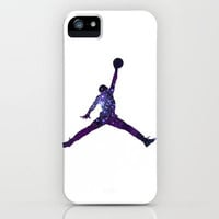 Galaxy Jordan iPhone Case by Ciby | Society6