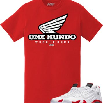 Jordan Retro 14 Candy Cane Sneaker Tees Shirt - ONE HUNDO