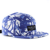 The Quiet Life Swirl 5-Panel Cap - Blue at Urban Industry
