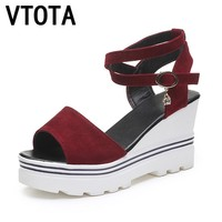 VTOTA Women Sandals Fashion Platform Sandals Wedges Women Shoes High Heels Summer Shoe