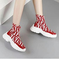 Fendi Woman Boots Fashion Breathable Sneakers Running Shoes