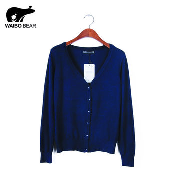 High quality  Eleven Color CARDIGAN 2015 NEW BRAND Knitted Sweater Women Large size Loose long sleeves Cardigan Sweater woman