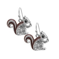 Cute Little Brown Tail Squirrel Earrings