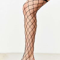Out From Under Wide Fishnet Thigh High Sock | Urban Outfitters