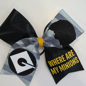 "3"" Where Are My Minions Cheer Bow"