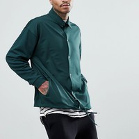 ASOS Oversized Jersey Coach Jacket In Poly Tricot at asos.com