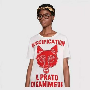 "GUCCI ""Il Prato di Ganimede Guccification"" Print Tunic Shirt Top Blouse"