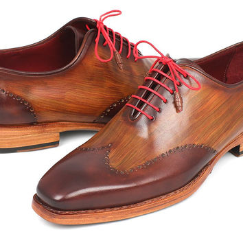 Brown Wingtip Oxford Mens Shoes
