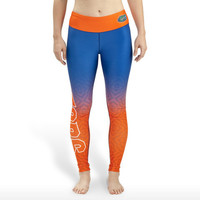 Florida Gators Womens Gradient Print Leggings