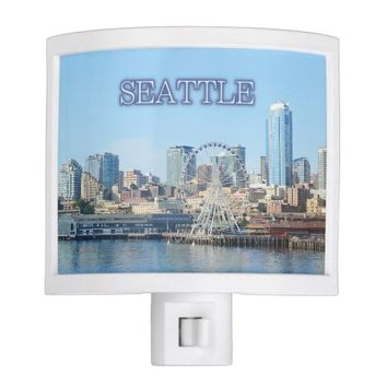 Seattle Waterfront Night Light