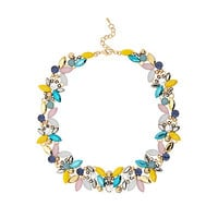 River Island Womens Yellow colourful mixed gem necklace