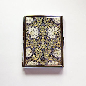 Pimpernel Flowers Cigarette Case, Art Nouveau Cigarette Case, Slim Cigarette Case, Cigarette Holder, Cigarette box, Art Deco, Floral (6071)