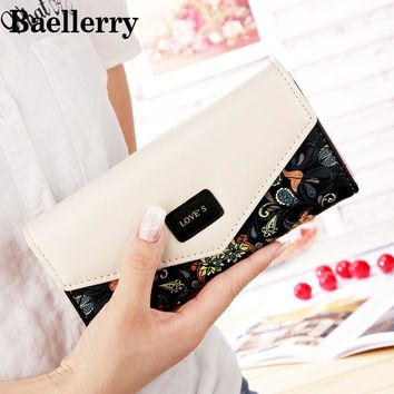 Famous Brand Printing Women Wallets Female Leather Wallet Women Purse Women Clutch High Quality portefeuille femme WWS077