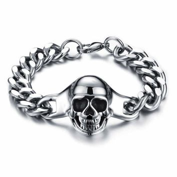 Hot Sale Awesome Stylish Gift New Arrival Shiny Great Deal Men Titanium Skull Fashion Strong Character Classics Ring Bracelet [10783257923]