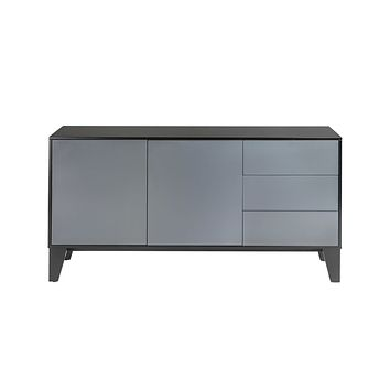 Esperanza Sideboard in satin black and gray lacquer