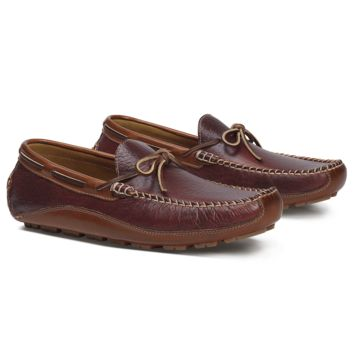 Drake Bison Loafer in Red by Trask