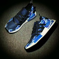 Beauty Ticks Adidas Nmd Pk Blue Waves Fashion Casual Sports Shoes