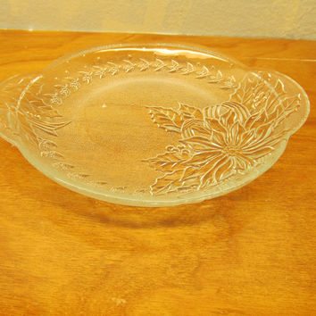 VINTAGE PRESSED GLASS BON-BON DISH