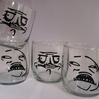 Meme Scotch Glasses - 4 Pack